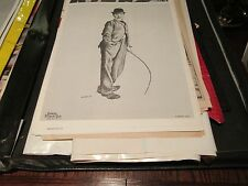 "Charlie Chaplin , Poster ,16"" X 19 1/2"" , Vintage ,Contemp Products Corp ,1971"