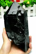 1717g A+ Natural Rare Black QUARTZ Skeletal Crystal Mineral Specimen