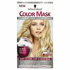4 X Schwarzkopf COLOR MASK Permanent Colour 910 Pearl Blonde
