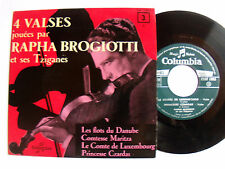 RAPHA BROGIOTTI & ses Tziganes no 3 - 4 valses - EP French COLUMBIA 1958