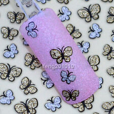 3D Glitter Butterfly Nail Art Stickers Decals For Nail Tips Decoration  BLE736D