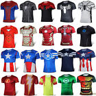 Marvel Superhero Short/Long Sleeve Costume T Shirt Cycling Sports Top Tee Jersey