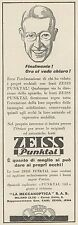 Z3075 Lenti ZEISS Punktal - Pubblicità - 1933 old advertising