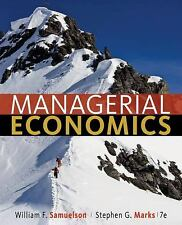 Managerial Economics by William F Samuelson