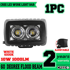 1X 10W LED Arbeitsscheinwerfer Work Light Bar Flood Beam Offroad Driving Lampe