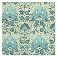 Tula Pink Saltwater Aqua Octopus Cotton Fabric Free Spirit  BTY By the Yard