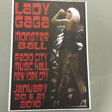 LADY GAGA - CONCERT POSTER NEW YORK CITY 20TH & 21ST JANUARY 2010  (A3 SIZE)