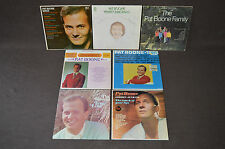 PAT BOONE 7 LP VINYL ALBUMS LOT COLLECTION True Love/1965/Golden Hits/Family+