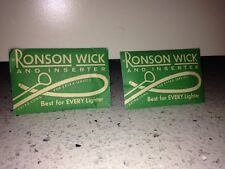 (2) Vintage Ronson Wick and Inserter for all Lighters
