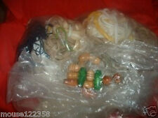 Lot Macrame Cord knobs Rings   Assor sizes colors