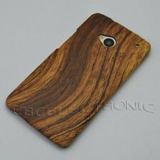 New Brown Wood design Hard Case cover for HTC One M7