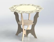 Vectors DXF Files Provencal Table Design For CNC Router And Laser Wood MDF