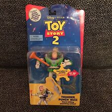 Toy Story 2 Thunder Punch Buzz Lightyear - Hard-Hitting Punching Action - 1999