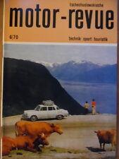 Tschechoslowakische MOTOR REVUE  6 - 1970 ** Salon Genf Jawa 90 Eisspeedway-WM