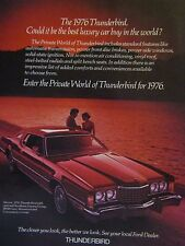 1972 Ford Thunderbird Original Print Ad -More Than  A Car -8.5 x 10.5""