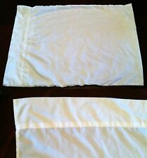 White 100% EGYPTIAN COTTON Queen Size Set Flat Fitted Sheet Standard Pillow Case