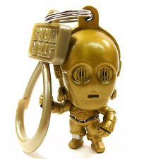 "STAR WARS Character Bag Clip Series 1 C-3PO 2"" Hanger Figural Keychain NEW"