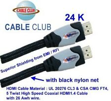 10 Ft, / 3 M, HDMI Cable,1.4v HDMI Cable 26 awg with Ethernet & 3D TV,