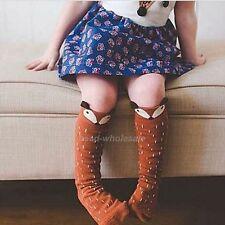 1~3Year Cute Baby Toddlers Coffee Fox Knee High Socks Tights Hosiery Stockings