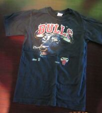 Chicago Bulls T Shirt Childs Size 18-20 Used Black Good Clean Condition 1991