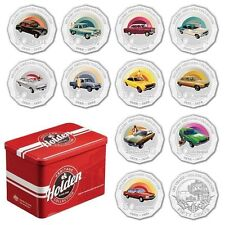 2016 AUSTRALIA HOLDEN HERITAGE 50 CENTS COLLECTION SET 12 COINS IN TIN - Limited