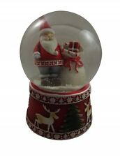 Gisela Graham Musical Santa Snow Dome - Christmas Snow globe -Festive Decoration