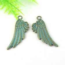 30pcs Antiqued Style Bronze Alloy Wing Shaped Pendant Charms 30*11*2mm 39018