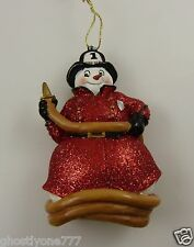 FD 1 Fire Department snowman Betsy Baytos 2007 Christmas ornament Kurt S. Adler