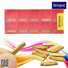 10Pcs MGMN200-G Metal Golden Carbide Insert For MGEHR/MGIVR Grooving Cutter Tool