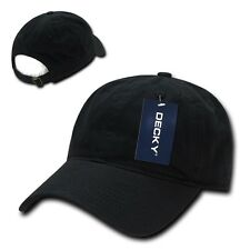 New Black Plain Solid Washed Cotton Polo Style Low Crown Baseball Ball Cap Hat