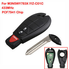 Remote Key Fob Flip Replacement Key Keyless Entry For Dodge IYZ-C01C M3N5WY783X