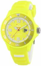 Ice-Watch Unisex Resin Case Strap Quartz Wrist Watch - Yellow