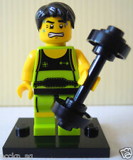 Lego Minifigure - col026b Weightlifter (Minifig Series 2 2010)
