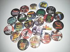 24 Zombie film badges Evil Dead Night Day Dawn Return City of the Living Dead