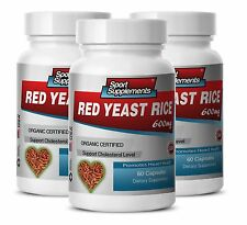 Red Yeast Rice Powder - Organic Red Yeast Rice 600mg - Reduces Liver Problems 3B