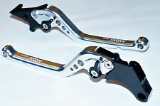 Silver Black Long Adjustable Brake Clutch Levers for KARIZMA / CBR250 (ABS)