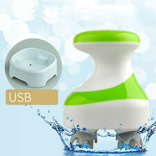 Portable USB Charging Head Scalp Electric Full Body Silicon Vibrating Massager