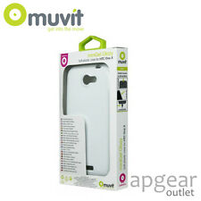 GENUINE MUVIT HTC ONE X WHITE MINI GEL GLAZY MUSKI0063 PHONE CASE COVER