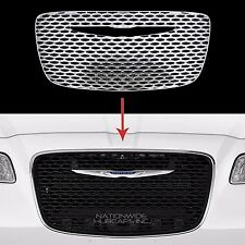 2015 2016 Chrysler 300 CHROME Snap On Grille Overlay Front Grill Cover Insert