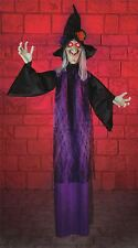 *Halloween 1.8m Standing Witch Light Up Eyes Party Decoration Prop Shop Display*