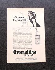 L684- Advertising Pubblicità -1960- OVOMALTINA