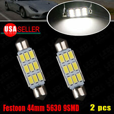 2x 44mm Festoon LED High Power 5630 9SMD Pure White 578 211-2 Interior Map Light