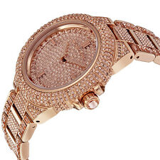 NEW MICHAEL KORS CAMILLE ROSE DIAL ROSE GOLD TONE CRYSTALT LADIES WATCH MK5862