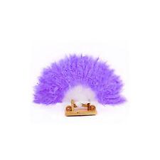 Women Feather Fan Dance Props Hand Goose Feather Folding Nice Wedding Fan Purple