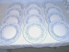 "12 Minton S645 Grey Mist 10 5/8"" Dinner Plates ~ Platinum Set! ~ Excellent"