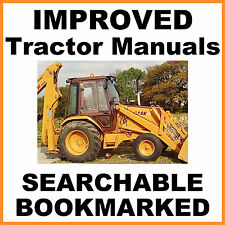 Case 580 B 580B CK Tractor Loader Backhoe Repair Service Manual = SEARCHABLE CD