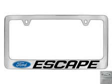 Ford Escape 1 logo Chrome Plated Brass Metal License Plate Frame Holder