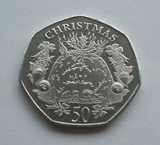 NOW IN STOCK 2016 ISLE OF MAN CHRISTMAS PUDDING 50p COIN AA AB FREE P&P IoM MANX