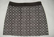MILLY Brown Cotton Mini Skirt-Size 6
