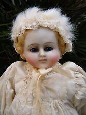 """SPLENDIDA TESTA e bisque spalla Parian Bambola antico con occhi di vetro blu 13"""""""